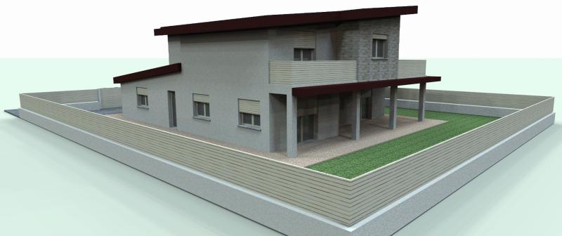 Mp progetti studio di ingegneria progetto di villa in for Progetto villa moderna nuova costruzione
